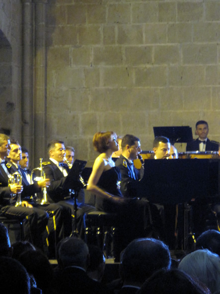 Northern  Cyprus Turkish Armed Forces Band Orchestra At Bellapais Festival Closing Gala Concert