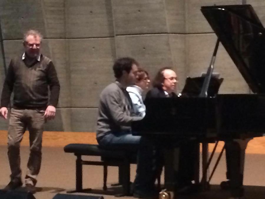 With ADAP Friends At Unesco Paris Concert Rehearsals 31 January 2016 - Huseyin Sermet, Papagionis Theadopolous And Cyprien Katsaris