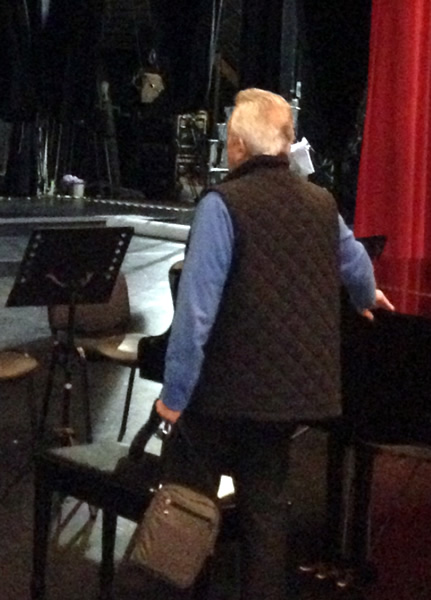 Dad's Making Sure All Is Ready On Stage