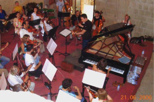 Cukurova State Symphony Orchestra's Rehearsal Conductor Emin Güven Yaslıçam Bellapais Abbey - T.R.N.C