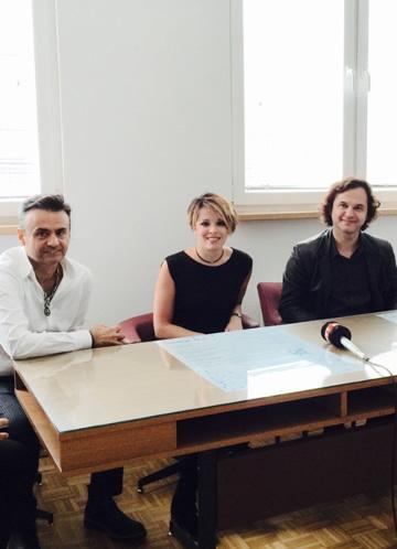 Press Conference For The Openning Concert Of Golden Lute International Music Festival Ljubisha Kirovski  , Dincer Ozer - October 2015