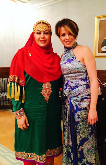 With Hiba Madi Violinist From Royal Oman Symphony Orchestra